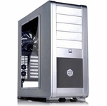Silverstone FT01 Fortress Case - Silver w/ Side Window