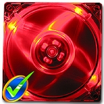 Quad Red LED 120mm Fan