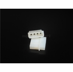Male 4-pin Molex Connector Housing - White