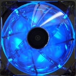 AeroCool Streamliner 140mm Fan (w/ 120mm adaptor) - Silver