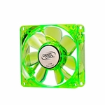 Logisys Deepcool 80mm Green Case Fan with Blue LEDs