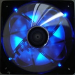 AeroCool Streamliner 140mm Fan (w/ 120mm adaptor) - Black