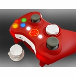 XCM Xbox 360 Wireless Control Pad Shell w/New D-Pad - Sexy Red