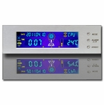 "Logisys 5.25"" Full Color Thermal/Clock Control Panel - Silver"