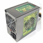 Aerocool AeroPower II 370W Illuminated PSU - Green