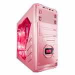 Apevia X-Dreamer 4 Metal Case w/ Side Window - Pink
