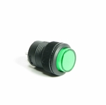 Illuminated Round Latching Push Switch - Green