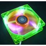 AeroCool Aerofan 80mm UV Reactive Ball Bearing Fan Green/Orange