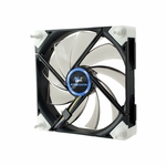 Kingwin Screw-less 120mm Duro Bearing Silent Case Fan - Black w/ White LED