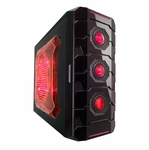 Apevia X-Cruiser3 Metal Mid-Tower Case w/ Side Window - Red