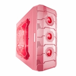 Apevia X-Cruiser3 Metal Mid-Tower Case w/ Side Window - Pink