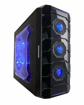 Apevia X-Cruiser3 Metal Mid-Tower Case w/ Side Window - Blue