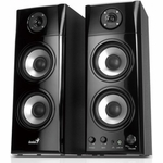 Genius SP-HF1800A 50-watt Three-way Hi-Fi Wood Speakers