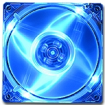 Quad Blue LED 120mm Fan