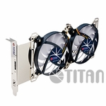 Titan Universal VGA slot Fan w/Speed Control