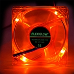 Flexiglow 80mm LED Case Fan - Red