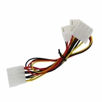 Akust Molex 4pin Splitter to Molex 4pin and Dual 3pin Fan Cable