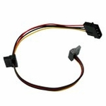 Evercool 4pin PSU Molex to 2x SATA Power Adapter Cable