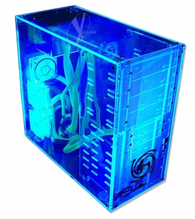 Logisys Pre-Assembled Blue UV Reactive Acrylic Case