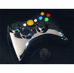 XCM Xbox 360 Wireless Control Pad Shell - Chrome/Yellow LED