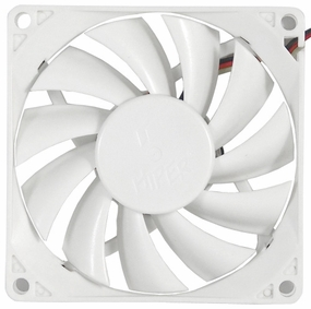 Hiper 80mm White LED Fan - White