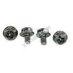 UNC Screws 6-32 x 5 cross-slotted Black Nickel (4pcs)