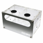 "XSPC Dual 5.25"" Bay LED Res W/Split Reservoirs"