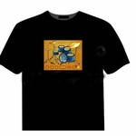EL Drum Kit Interactive T-Shirt XL