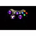 XCM X1 Wireless XBOX 360 Shell w/ LEDs & Crazy Fire - Black