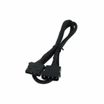 Phobya 4Pin Molex Power Extension 60cm - Sleeved Black