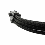 "Gelid Solutons 12"" 6 Pin PCI-E Sleeved Cable - Black"