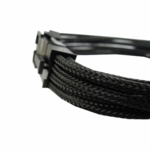 "Gelid Solutons 12"" 8 Pin (EPS) Sleeved Cable - Black"
