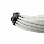"Gelid Solutons 12"" 8 Pin (EPS) UV Reactive Sleeved Cable - White"