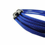 "Gelid Solutons 12"" 8 Pin (EPS) UV Reactive Sleeved Cable - Blue"