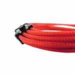 "Gelid Solutons 12"" 8 Pin (EPS) UV Reactive Sleeved Cable - Red"