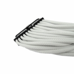 "Gelid Solutons 12"" 24 Pin (EPS) UV Reactive Sleeved Cable - White"