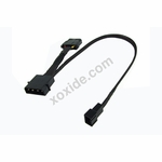 Adapter 4Pin (12V) to 3Pin Molex (7V) 30cm - Black