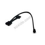Phobya Adapter 4Pin Molex (12V) to 3Pin Molex (12V) 30cm - Black