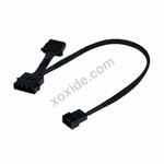 Phobya Adapter 4Pin Molex (12V) to 4Pin PWM 30cm - Black