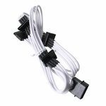 Bitfenix Alchemy Multisleeve 4-Pin Molex to Quad SATA Power Adapter - 20cm - White