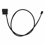 "ModMyToys 4-Pin Male to 3-Pin Female Cable Adapter - 24"" - Sleeved Black"