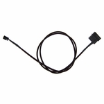 "ModMyToys 4-Pin Male to 3-Pin Female Cable Adapter - 36"" - Sleeved Black"