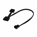 Phobya 4Pin Molex (12V) to 4Pin PWM 30cm Adapter  - Sleeved Black