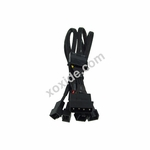 Phobya Y-Adapter 4Pin Molex to 4x 3Pin (12V) 30cm - Black