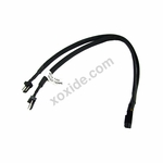 Y-Cable 3Pin Molex to 2x 3Pin Molex 30cm - Black
