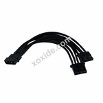 Phobya Y-Cable 4Pin to 2x 4Pin single Sleeved 20cm - Black