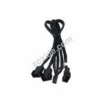 Phobya Y-Cable 4Pin PWM to 3x 4Pin PWM 30cm - Black