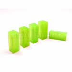 mod/smart - UV Brite Green 4 Pin Molex Dust Caps - 6 Pack