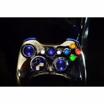 XCM X1 Wireless XBOX 360 Shell w/ LEDs & Crazy Fire - Chrome