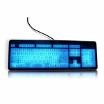 Modtek Slim Acrylic Illuminated Keyboard v. 2 - Black
